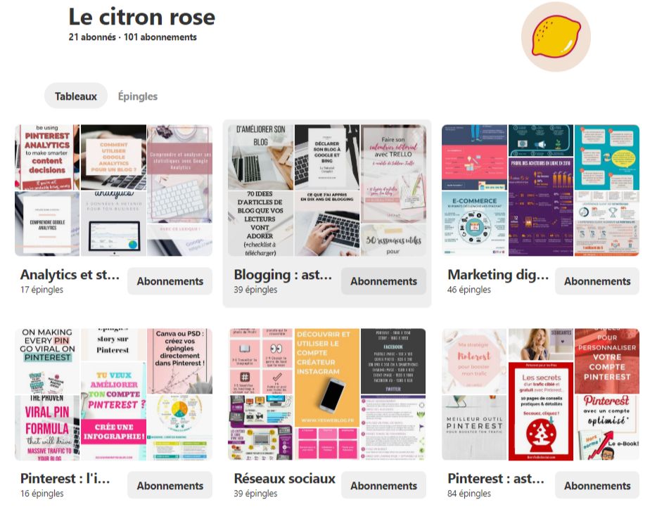 Pinterest le citron rose