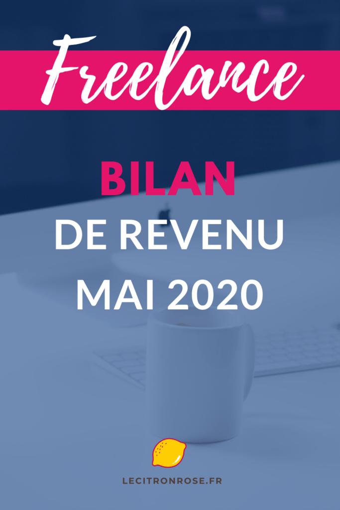 Bilan de revenu freelance de mai 2020