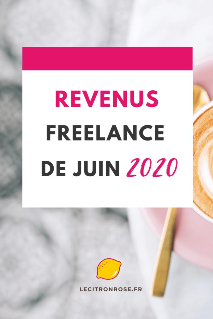 Bilan de revenu freelance de juin 2020