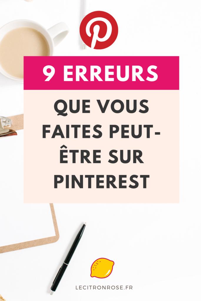 9 erreurs à ne pas faire sur Pinterest