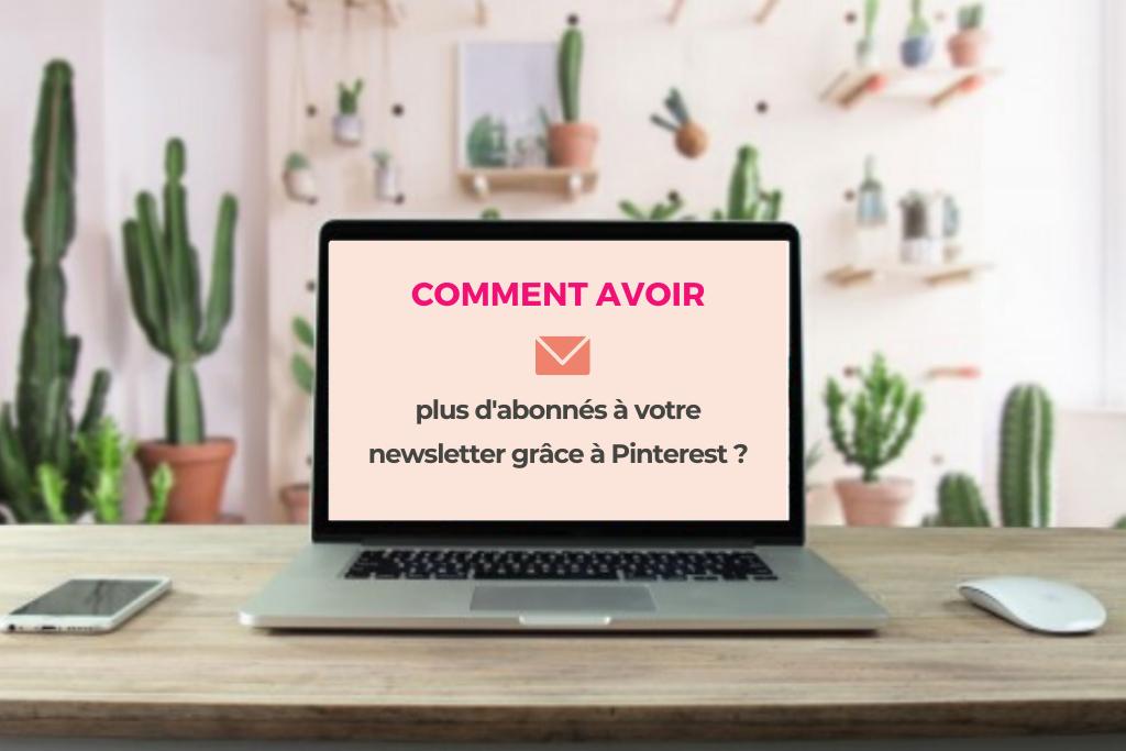 Plus d'abonnés à sa newsletter grâce à Pinterest